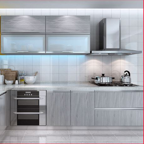 China Wood Grain Kitchen Cabinets, Kitchen Cabinets Made In China Reviews