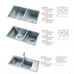 Cheap 304 stainless steel manual kitchen sink