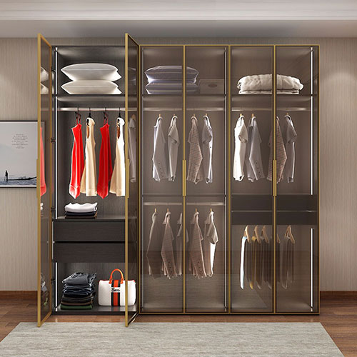 glass wardrobe