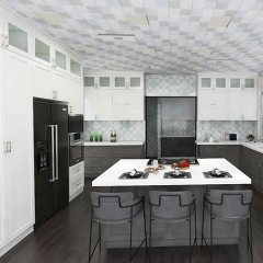 modern white and grey kitchen cabinets from floor ...