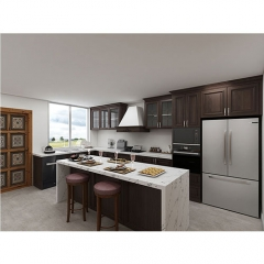 American style kitchen cabinet solid wood