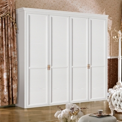 white bedroom swing door wooden wardrobe